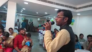 Male EMcee Thamizharasan signing off at birthday party at Vadapalani Aadithya Hall Contact 900308719