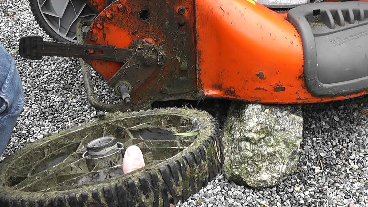 Replacing Broken Rear Wheels On A Husqvarna R 53sv Self