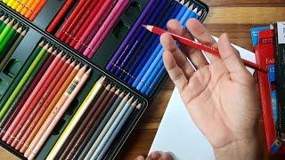 Unboxing Lápis de cor Profissional Polichromos 60 cores (Meus novos lápis de cor)
