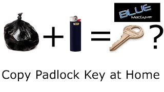 Copy Padlock Key at Home from Garbage