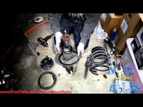 1992-1996 Toyota Camry Front shock assembly remove and install