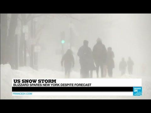 US SNOW STORM - Blizzard spares New York despite forecast of
