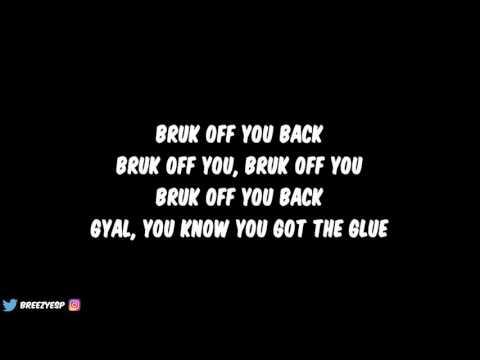 Konshens ft. Chris Brown - Bruk Off Yuh Back (Lyrics)