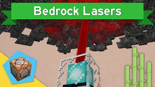 DESTROYING NETHER CEILING in Vanilla Minecraft 1.10+ | BEDROCK LASERS Command Block Creation