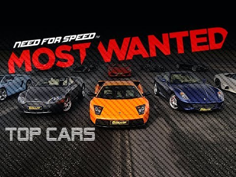 TOP CARS in Need For Speed Most Wanted (2012 HD NFS001)