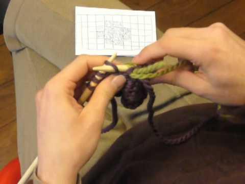comment tricoter le jacquard a fil croise