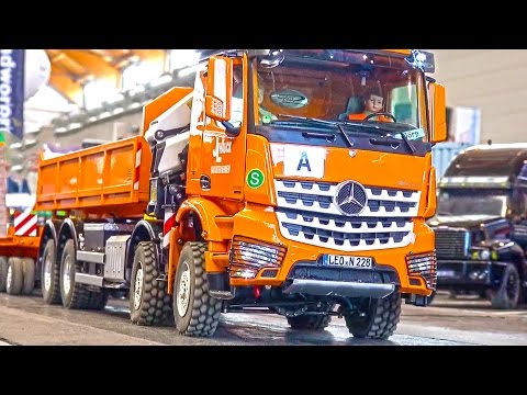 The MOST EXPENSIVE RC Truck! Loading Crane Hook Lifter! MB Arocs! Palfinger! ScaleART!