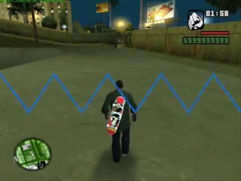 Grand Theft Auto: San Andreas Free Running Parkour,Skateboarding And Surfing