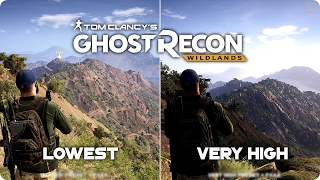 PC Graphics Comparison - Ghost Recon Wildlands - Low vs Ultra Settings