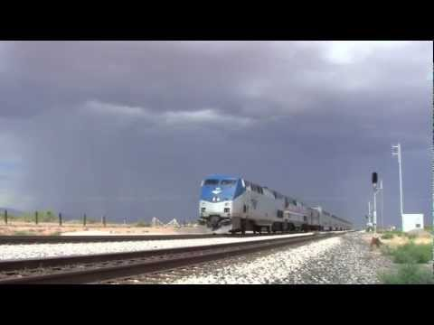 [HD] Sunset Limited [AMTK 1] w/ Heritage Unit 145- west of Deming, NM