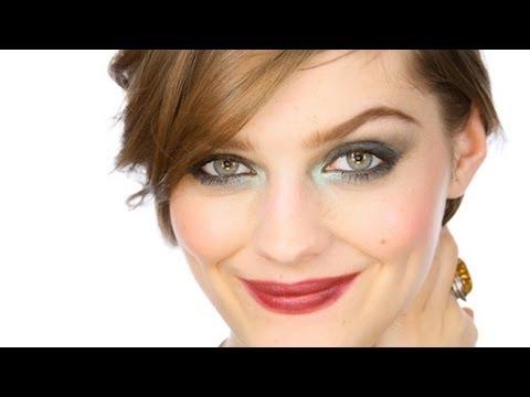 Green Smoke Glamorous Party Eyes Makeup Tutorial