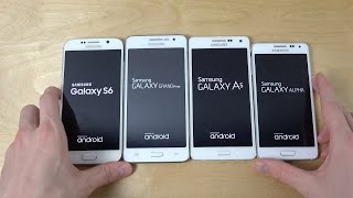 Samsung Galaxy S6 vs. Grand Prime vs. Galaxy A5 vs. Galaxy Alpha - Which Is Faster? (4K)