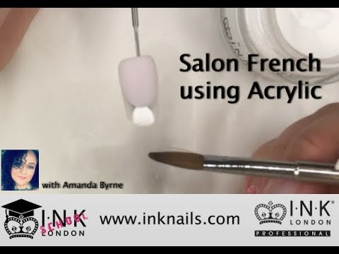 How to create a Salon French using INK London Acrylink