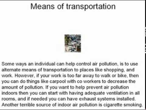 speech about air pollution