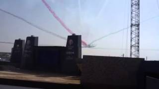 F16 plane painte the UAE flage color
