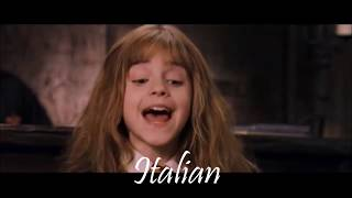 """It's leviOsa not levioSA"" Hermione quote in 13 languages"