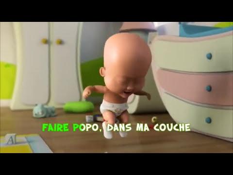Vidéo karaoké de « Popo dans le pot » par bébé Coucouche