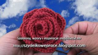 Video kurs szydełkowania część.5 Róża, How to crochet rose