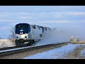 EPIC! TRAINS KICKING UP SNOW! 2-8-17 Earlville, IL