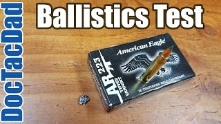 Home Defense Load? American Eagle 50gr Varmint Tipped - Ballistic Gel Test