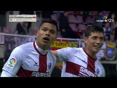 Golazo de 'Cucho' Hernández (0-1) FC Barcelona B vs SD Huesca