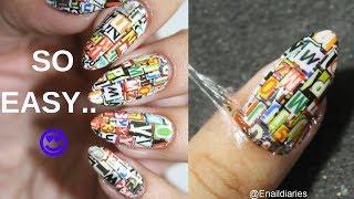 *ALPHABET* NAIL ART 💅🏻 | Easy water decals nail art | Enaildiaries