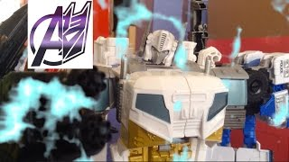 Transformers Stop Motion [Combiner wars]Pt3 Optimus Maximus vs Devastator