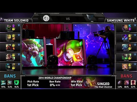 TSM vs Samsung White | Game 2 Quarter Finals S4 Worlds LOL 2014 Day 4 | SSW vs TSM G2