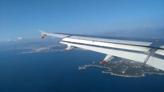 British Airways Airbus A319 approach and landing in Nice Côte d