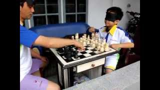 midbrain activation world MCB - Kenneth Lengkong playing chess blindfolded with Stevie Lengkong