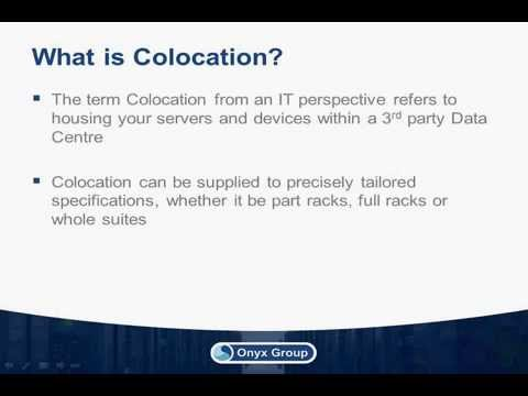 Colocation: How to gain business advantage from Data Centres