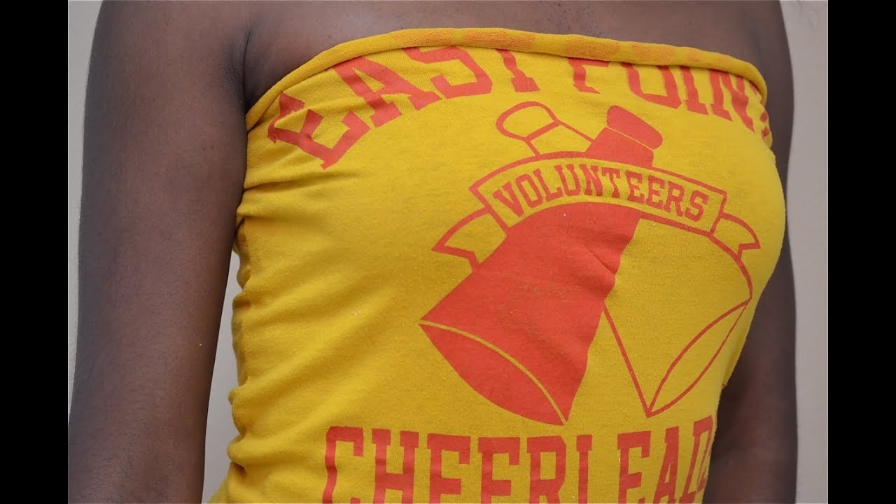 How to turn an old t shirt into a tube top lhdc tv for How to create a t shirt