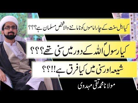 Shia Or Sunni Myn Farq?? | Rasool Allah Ky Doar Myn Sunni Thy Ya Shia?? | Allama Taqi Mehdavi | HD