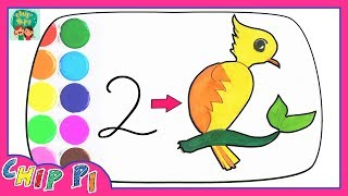 How to Draw Parrots Simple Drawing Very Easy for Kids