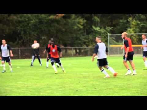 David Villa training with New York City FC
