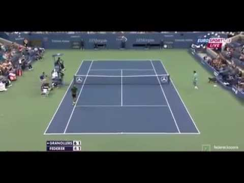 Federer vs Granollers Amazing point.