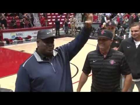 SDSU BASEBALL: TONY GWYNN NIGHT AT AZTEC HOOPS - 2/11/15