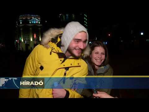 2020.01.01. Retró zenével és tűzijátékkal köszöntötték Zentán 2020-at