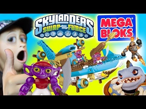 Skylanders Mega Bloks Sharpfins Jet Boat Timelapse Build + Stop Motion (Swap Force)