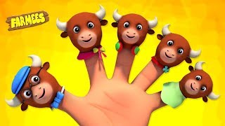 Finger Family Animals | Nursery Rhymes For Children | Videos For Kids by Farmees