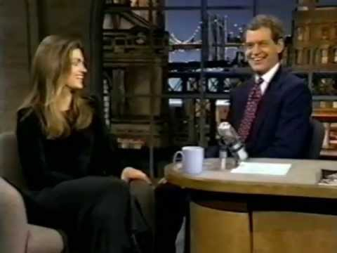 Cindy Crawford on Late Night (1993)