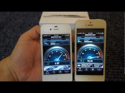 Speed Test Apple iPhone 3G vs iPhone 4S vs iPhone 5