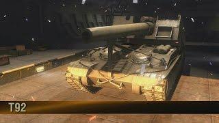 Wot xbox 360 American artillery Tier X T-92 Unlocked & First Run !!!