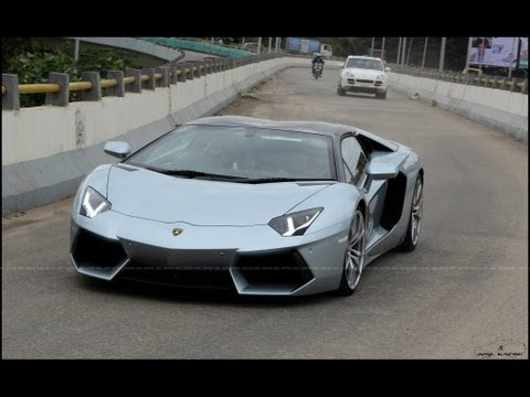 Lamborghini Aventador Roadster in Bangalore, first in India