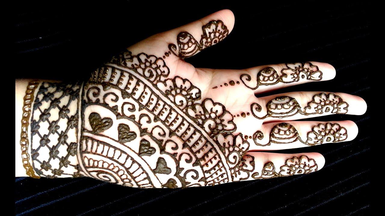 Easy Quick Mehndi Designs : Simple full hand eid henna easy and quick mehendi design