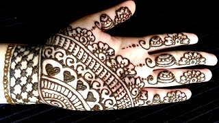Simple Full Hand Eid Henna - Easy and quick mehendi design