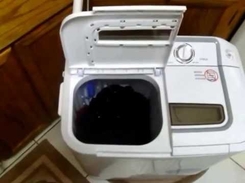 XPB36 Panda Portable Compact Washing Machine with Spinner Dryer Combo Twin Tub for my RV. Off Grid