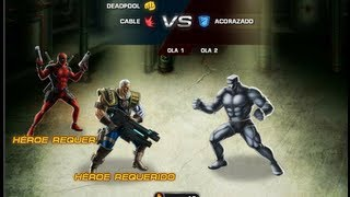 Batalla Heroica Dead Pool y Cable Mision 6 Marvel Avengers Alliance