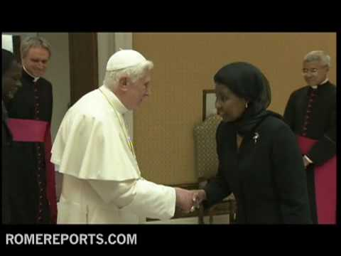 Pope receives Ashe-Rose Migiro, highest ranking UN woman