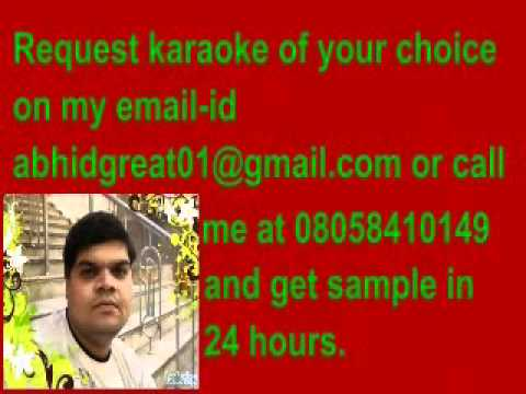 karaoke aaj rapat jaye to-namak halal.flv